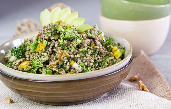 "<strong>Get the <a href=""http://thehealthyfoodie.com/2012/04/15/buckwheat-garden-salad/"" target=""_blank"">Buckwheat ""Garden"" S"
