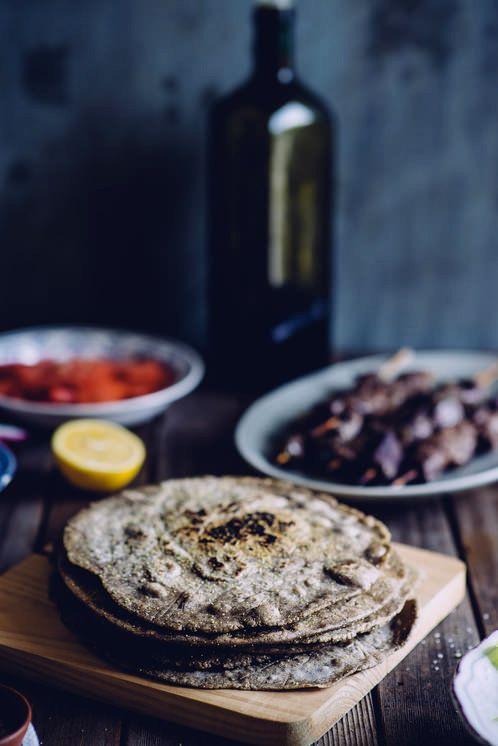 "<strong>Get the <a href=""http://souvlakiforthesoul.com/2013/07/buckwheat-pita-bread-recipe"" target=""_blank"">Buckwheat Pita re"