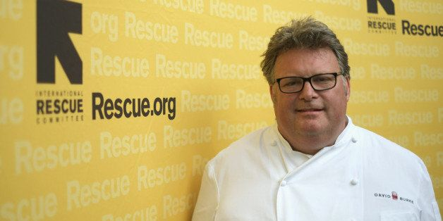 NEW YORK, NY - JULY 24:  Chef David Burke poses for a photo at the International Rescue Committee's Third Annual GenR Summer Party at the Garden by David Burke at The James on July 24, 2013 in New York City.  (Photo by Neilson Barnard/Getty Images for International Rescue Committee)