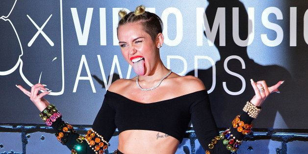 NEW YORK, NY - AUGUST 25:  Miley Cyrus attends the 2013 MTV Video Music Awards at the Barclays Center on August 25, 2013 in the Brooklyn borough of New York City.  (Photo by James Devaney/WireImage)
