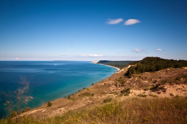 The Sleeping Bear Dunes National Lakeshore at Lake Michigan.