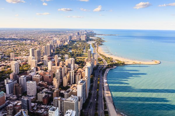 The Chicago lakefront.