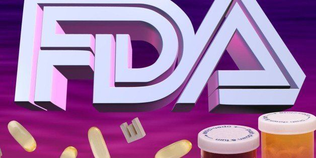 USA - 2001:  3 col. x 5 inches/164x127 mm/558x432 pixels Kurt Strazdins color illustration of the initials 'FDA' along with pills and prescription medicine bottles. (MCT via Getty Images)