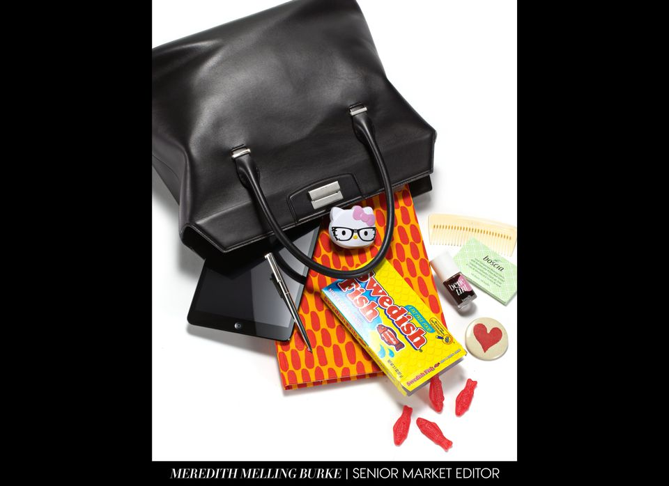 During a harried week, I try to keep things as simple as possible (i.e. works-with-everything carryall, quick sugar fix, mini