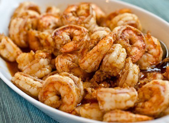 For a quick and easy dinner, try these jumbo shrimp bathed in a chili-flavored brine and sautéed with loads of fresh ginger a