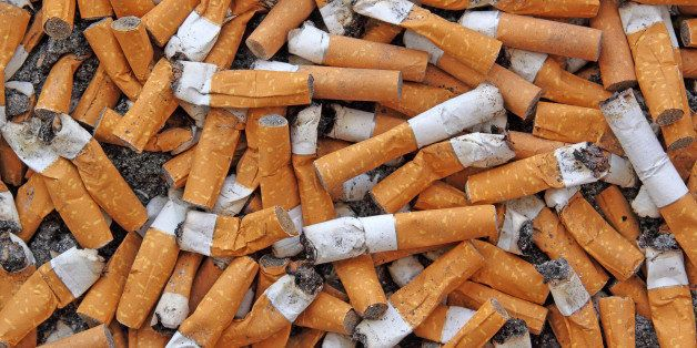 many cigarette butts for...
