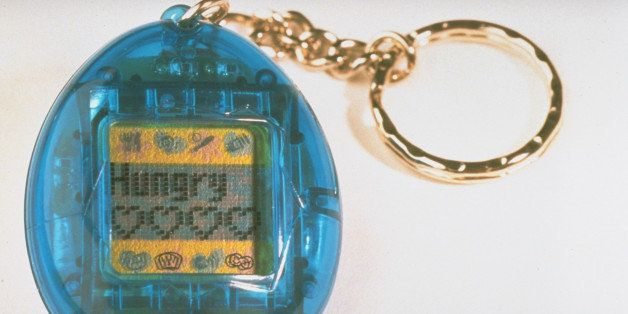Tamagotchis, a virtual pet that grows from chick to adult on a minicomputer screen in 10 days only w. proper care from button-pressing owner, made by the Japanese firm Bandai.  (Photo by Kimberly Butler//Time Life Pictures/Getty Images)