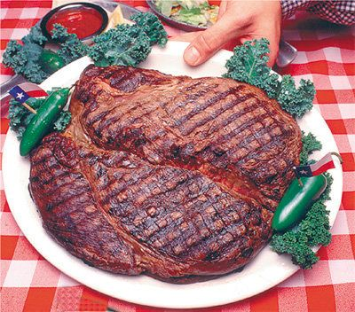 "<strong>Where</strong>: <a href=""http://bigtexan.com/72-oz-steak/"" target=""_blank"">The Big Texan Steak Ranch </a>(Amarillo, T"