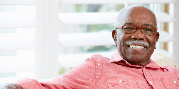 portrait of happy senior man at ...