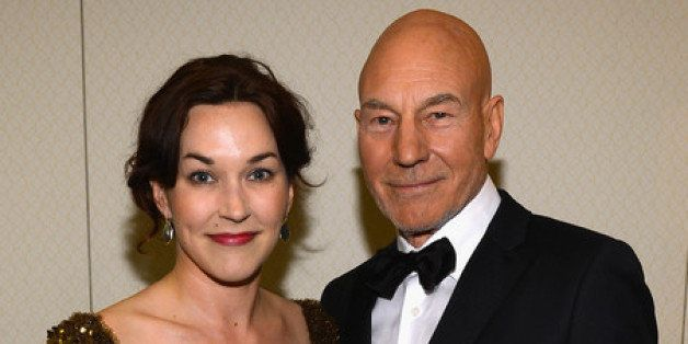 WASHINGTON, DC - APRIL 27:  Sunny Ozell and Patrick Stewart attend the TIME/CNN/PEOPLE/FORTUNE Pre-Dinner Cocktail Reception at Washington Hilton on April 27, 2013 in Washington, DC.  (Photo by Larry Busacca/Getty Images for Time, Inc)