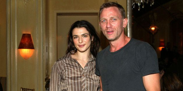 NEW YORK - SEPTEMBER 13:  Rachel Weisz and Daniel Craig attend a private screening of 'Enduring Love' at the MGM screening ro