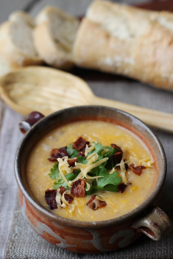 "<strong>Get the <a href=""http://www.delightfully-tacky.com/2012/11/corn-chowder.html"">Corn Chowder</a> recipe from Delightful"