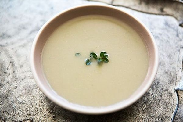 "<strong>Get the <a href=""http://www.simplyrecipes.com/recipes/artichoke_soup/"" target=""_blank"">Artichoke Soup</a> recipe from"