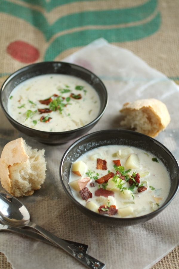 "<strong>Get the <a href=""http://www.lifeasastrawberry.com/new-england-clam-chowder/"">New England Clam Chowder</a> recipe from"