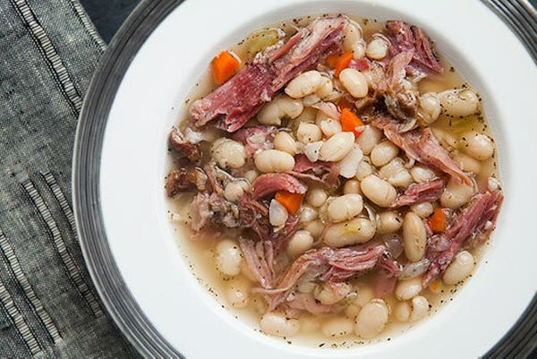 "<strong>Get the <a href=""http://www.simplyrecipes.com/recipes/white_bean_and_ham_soup/"">White Bean and Ham Soup</a> recipe fr"