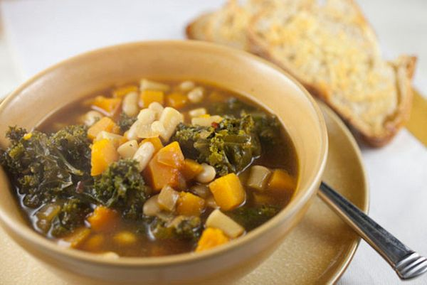 "<strong>Get the <a href=""http://www.macheesmo.com/2012/11/squash-and-kale-stew/"">Squash & Kale Stew</a> recipe from Macheesmo"