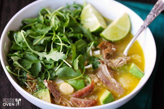 "<strong>Get the <a href=""http://www.gimmesomeoven.com/carnitas-caldo-carnitas-soup/"">Carnitas Caldo</a> recipe from Gimme Som"