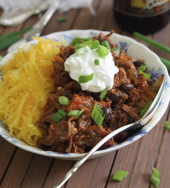 "<strong>Get the <a href=""http://www.runningtothekitchen.com/2013/11/spicy-porter-short-rib-chili/"" target=""_blank"">Spicy Port"