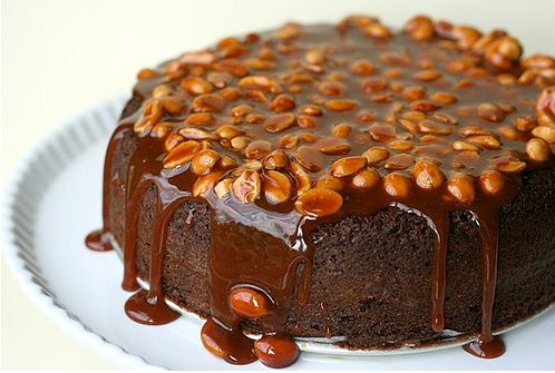 """<strong>Get the <a href=""""http://www.annies-eats.com/2009/09/14/caramel-peanut-topped-brownie-cake/"""" target=""""_blank"""">Caramel P"""