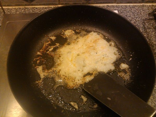 That's what a pancake looks like when you forget the eggs. So, don't forget the eggs.