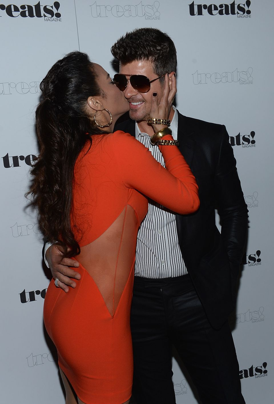 """Rumors surfaced after the VMAs that <a href=""""http://www.huffingtonpost.com/2013/09/05/robin-thicke-paula-patton-cheating-alle"""