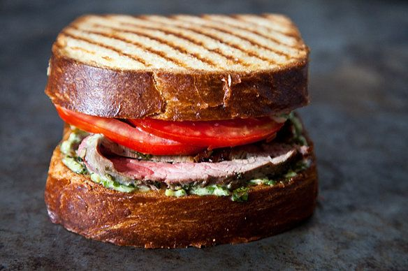 """<strong>Get the <a href=""""http://food52.com/recipes/13349-flank-steak-on-texas-toast-with-chimichurri"""" target=""""_blank"""">Flank S"""