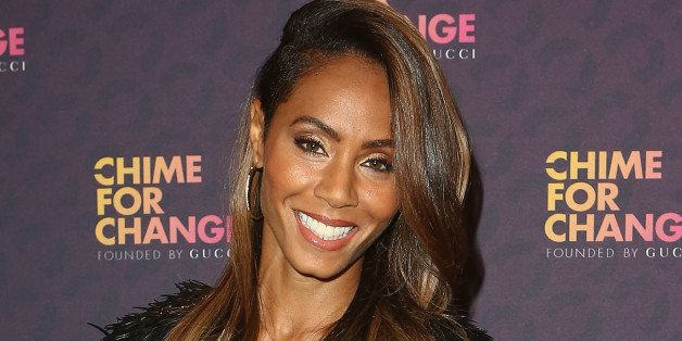 LONDON, ENGLAND - JUNE 01:  Jada Pinkett Smith poses backstage in the media room at the 'Chime For Change: The Sound Of Chang