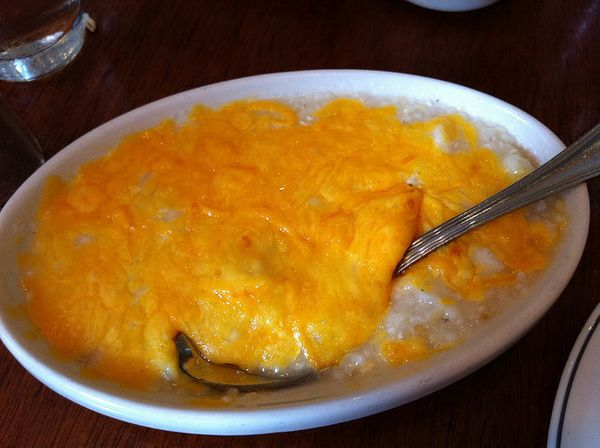 Grits and cheese are best friends. Don't deny their friendship, embrace it. Wholeheartedly.