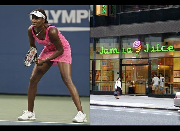It's a match made in heaven (no pun intended) for Venus Williams to endorse a super-yummy yet (semi-)healthy chain like Jamba