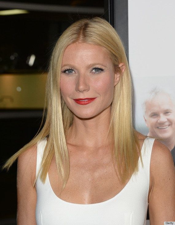 We've never seen the Goop founder sporting a bold shade of red lipstick like this before, but we absolutely love it. The crea