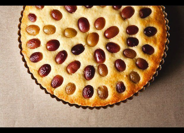 """<em><strong><a href=""""http://food52.com/recipes/19310-grape-almond-and-olive-oil-cake"""" target=""""_hplink"""">Get the recipe on Food"""