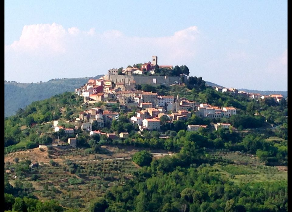 Picturesque hilltop villages are around every bend in the road in Istria.