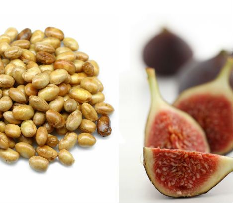 Two ounces of soynuts and about four figs will clock in around 22 grams of protein, says Angela Ginn-Meadow, RD, LDN, CDE, sp