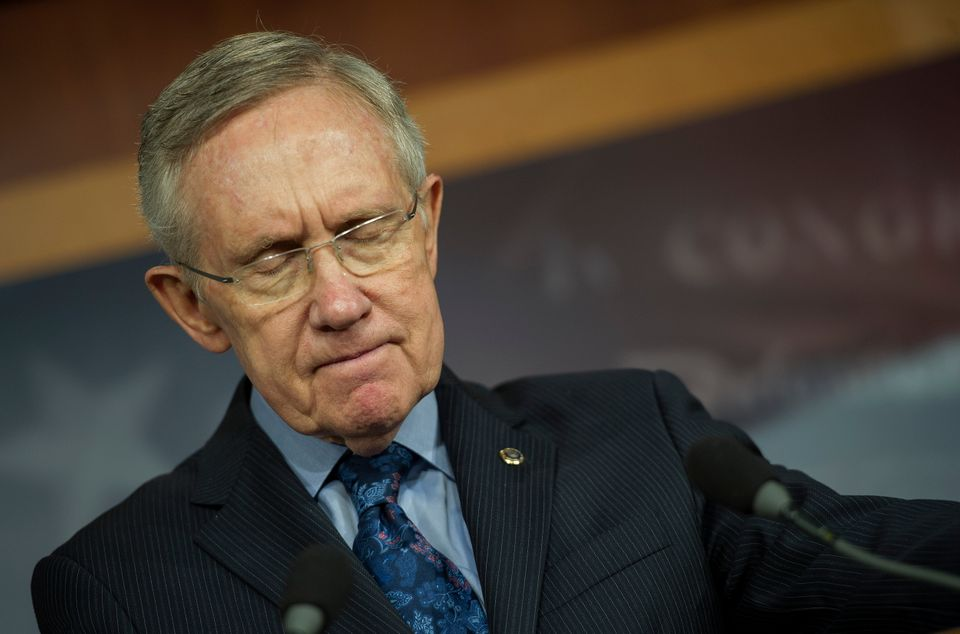 U.S. Senate Majority Leader Harry Reid, D-NV, makes a statement on Capitol Hill about the debt ceiling in Washington, D.C., O