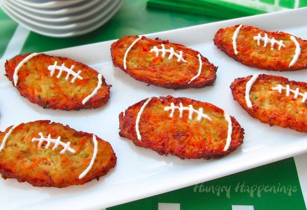 """<strong>Get the <a href=""""http://www.hungryhappenings.com/2013/01/super-bowl-appetizers-football-shaped.html"""" target=""""_blank"""">"""