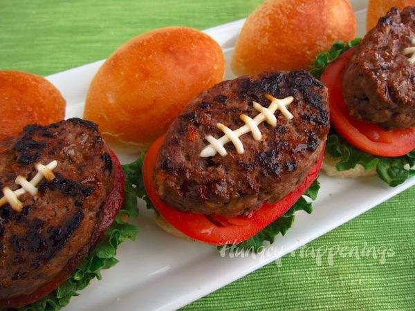 """<strong>Get the <a href=""""http://www.hungryhappenings.com/2013/01/super-bowl-party-foods-football-shaped.html"""" target=""""_blank"""""""