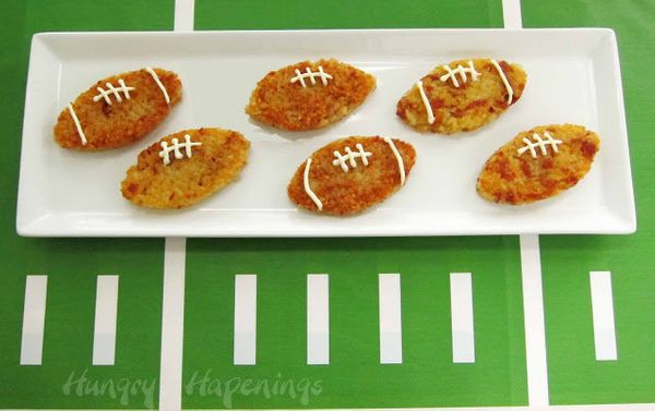 """<strong>Get the <a href=""""http://www.hungryhappenings.com/2012/01/football-shaped-proscuitto-and-asiago.html"""" target=""""_blank"""">"""