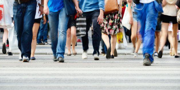 motion blurred pedestrians...