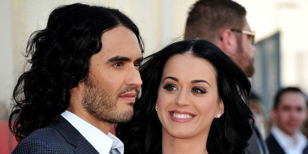 Russell Brand and Katy Perry attend the 'Arthur' European premiere at Cineworld 02 Arena on April 19, 2011 in London, England.