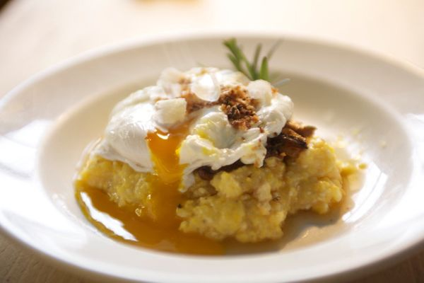 "<strong>Get the <a href=""http://food52.com/recipes/3071-polenta-with-mushroom-ragu-poached-farm-egg-garlic-breadcrumbs"" targe"