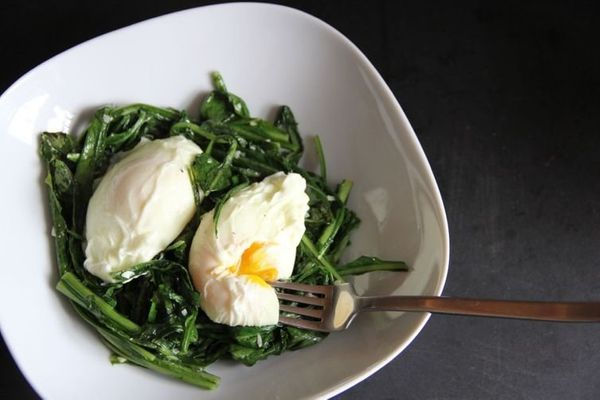 "<strong>Get the <a href=""http://food52.com/recipes/23000-spigarello-with-poached-eggs"" target=""_blank"">Spigarello with Poache"