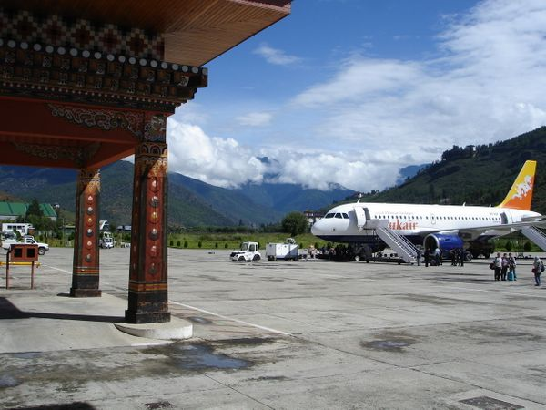 "The only international airport in Bhutan, the airport sits nestled <a href=""http://www.businessinsider.com/bhutans-paro-airpo"