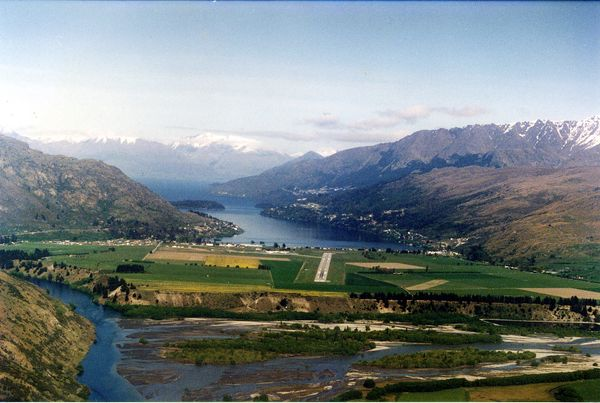 This needs no explanation, really, but if you must know, the airport sits on New Zealand's South Island surrounded by the are
