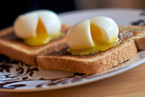 How could soft boiled eggs possibly have gotten a leg up on poached eggs? They have all the best parts of poached eggs withou