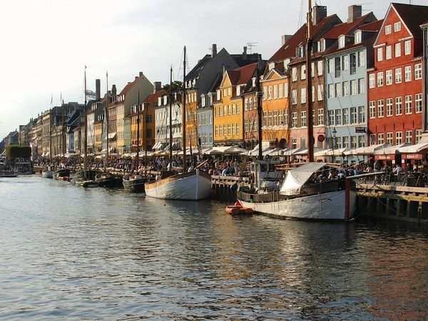 17th and 18th century homes and bars dot the canal and entertainment district of the Danish capital.
