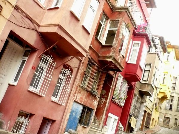 This old Jewish district of Istanbul features homes in an array of colors.