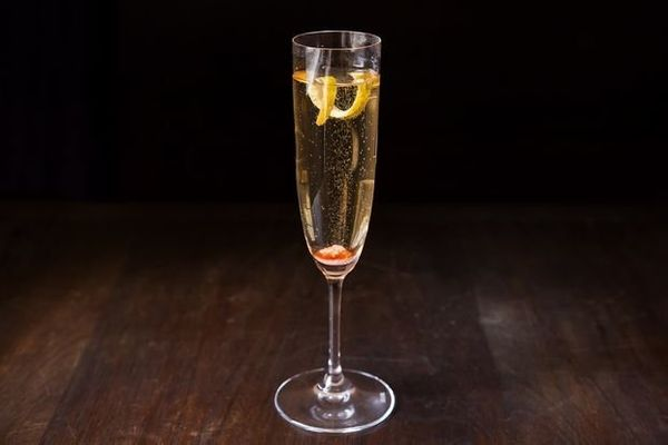 """Champagne is a fixture of Gatsby's extravagent parties.  <strong>Get the <a href=""""http://food52.com/recipes/20207-champagne-c"""