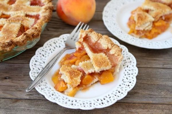 """This classic peach recipe pays tribute to James' giant fruit.  <strong>Get the <a href=""""http://www.twopeasandtheirpod.com/pea"""