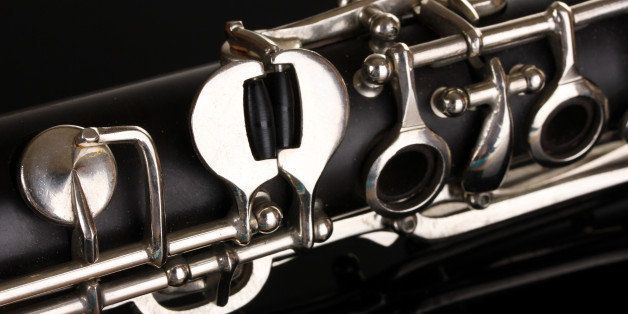 close up detail of clarinet on...