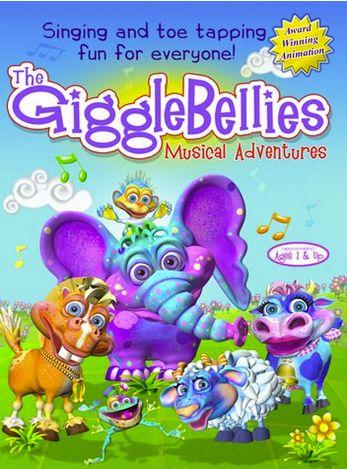 "GiggleBellies Musical Adventure DVD| $14.98 | <a href=""http://thegigglebellies.com/previews/volume-1/"" target=""_blank"">The Gi"
